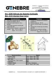 Art. 3230 Válvula de Asiento Inclinado Art. 3230 Slanted Seat ... - TDM