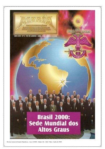 Revista Astréa de Estudos Maçônicos - Ano: LXXIII - Edição: 06 ...