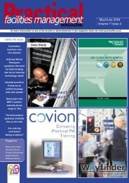 May/June 2004 Volume 7 Issue 2 - Practical Facilities Management