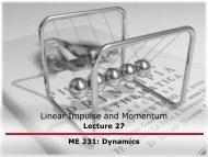 Linear Impulse and Momentum