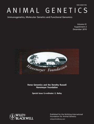 ANIMAL GENETICS - The Havemeyer Foundation