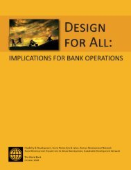 Design for All: Implications for Bank Operations - World Bank ...
