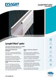 Lysaght Fitfast® gutter - BlueScope Steel