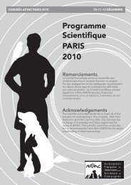 Programme scientifique paris 2010 - AFVAC