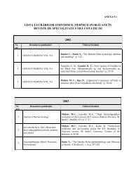 Lista lucrarilor stiintifice / tehnice publicate in reviste ... - GeoEcoMar