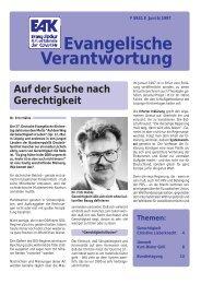 Global denken – lokal handeln - Evangelischer Arbeitskreis der ...
