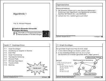 Algorithmik 1 - Friedrich-Alexander-Universität Erlangen-Nürnberg