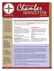 Newsletter - Central St. Croix Area Chamber of Commerce
