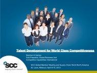 Talent Development for World Class Competitiveness