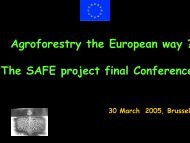 The SAFE project final Conference - INRA Montpellier