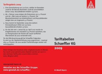 Tariftabellen Schaeffler KG 2009 - Schaeffler-Nachrichten der IG ...