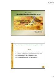 Leader e Quadro Estratégico Comum - CAP - Agricultores de Portugal