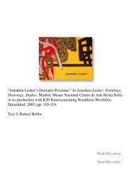 Jonathan Lasker's Dramatis Personae - Robert Hobbs