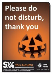 trick or treat advice - Kent Police