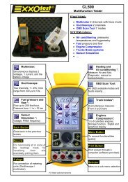 Multifunction Tester - Exxotest
