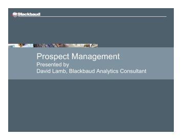 Prospect Management