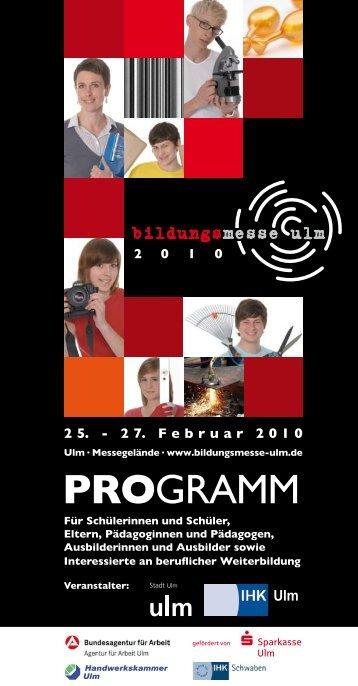 PROgramm - Bildungsmesse Ulm