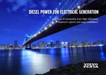 Diesel POWER FOR ELECTRICAL  GENERATION - Volvo Penta