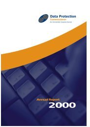 Twelfth Annual Report of the Data Protection Commissioner 2000