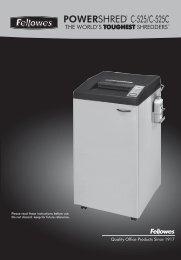 POWERSHRED® C-525/C-525C - Fellowes