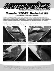 Yamaha YZF-R1 Undertail Kit
