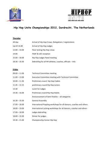 Hip Hop Unite Championships 2012, Dordrecht, The Netherlands
