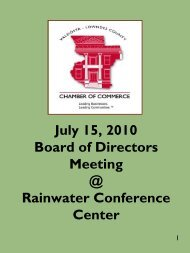 July 15, 2010 Board of Directors Meeting @ Rainwater - Chamber ...