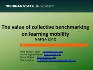 The value of collective benchmarking on learning mobility (PDF)