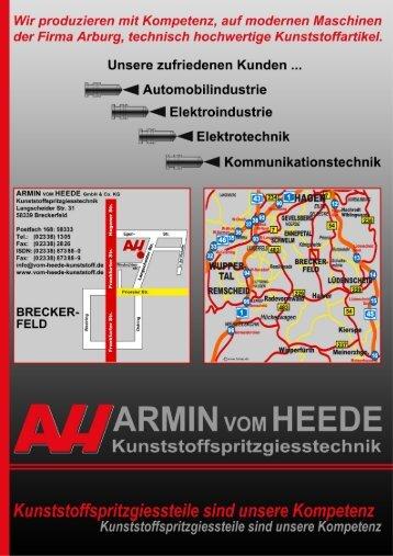 Firmenprospekt - Kunststoff Kunststoffspritzgiesstechnik Armin vom ...