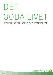 Det goda livet - Miljöpartiet de gröna