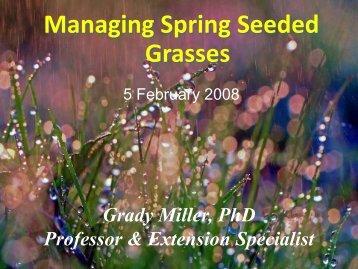Managing Spring Seeded Grasses - TurfFiles