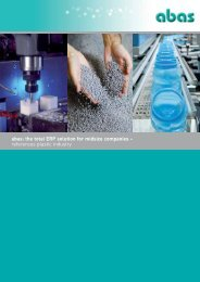 Plastics industry references in PDF format - ABAS Software AG
