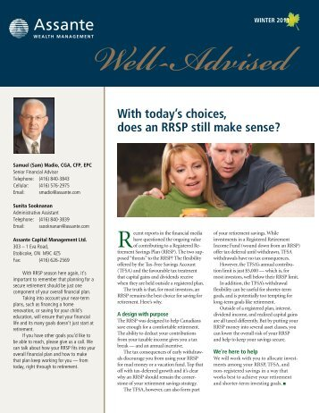 Winter Newsletter 2011 - Assante Wealth Management
