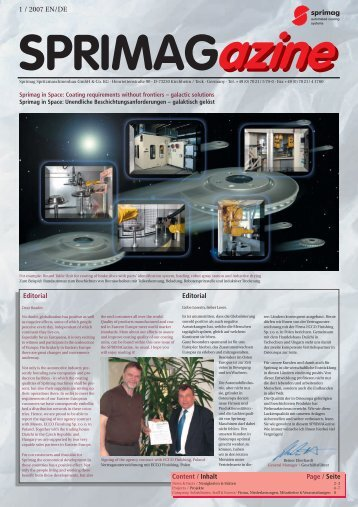 Projects - Sprimag