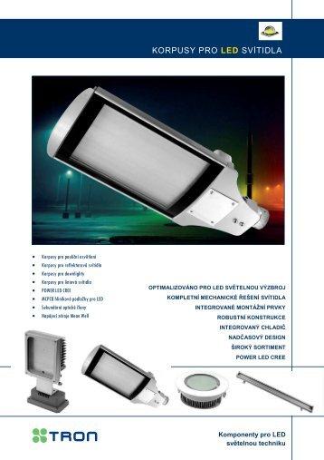 Korpusy pro LED svítidla
