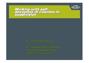 Download Tatiana's presentation - Oxford Brookes University ...