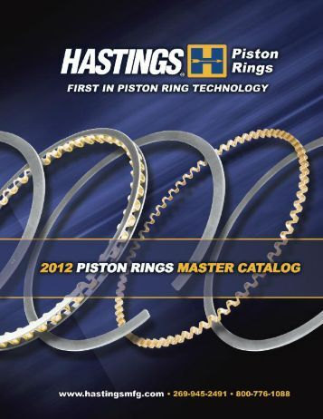 Hastings Piston Rings Cross Reference