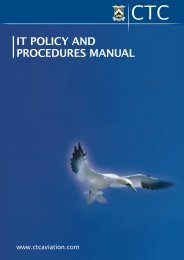IT POLICY AND PROCEDURES MANUAL - CTC Aviation