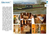 Narrowboat Chetwynd - Rugby Boat Sales