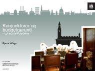Konjunkturer og budgetgaranti - primo