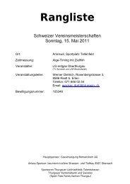 SVM Nachwuchs in Amriswil vom 15.05.2011 - LAR Tägerwilen