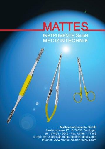 Mattes-Instrumente GmbH Haldenstrasse 27 - D ... - Dixa Medical AB
