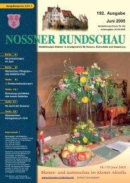 192. Ausgabe Juni 2005 - Nossner Rundschau