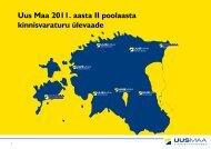 2011. II poolaasta turuülevaade - Uus Maa