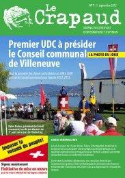 Premier UDC à présider le Conseil communal de ... - UDC Chablais