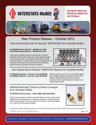 New Product Release – October 2012 - Interstate McBee