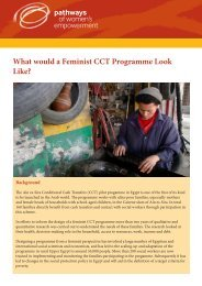 What would a Feminist CCT Programme Look Like?