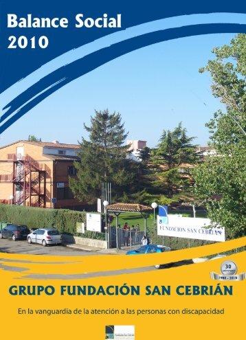 Balance Social 2010 - Fundación San Cebrián