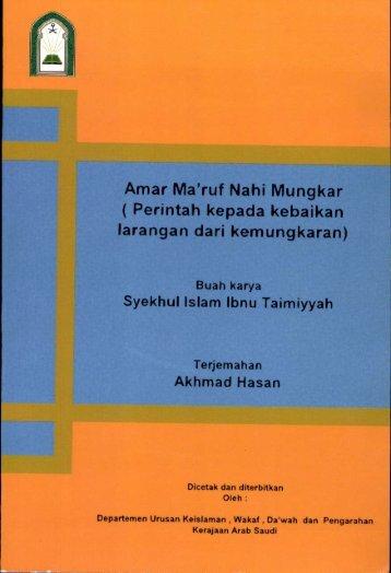 Amar Ma'ruf Nahi Mungkar ( Perintah kepada kebaikan larangan ...