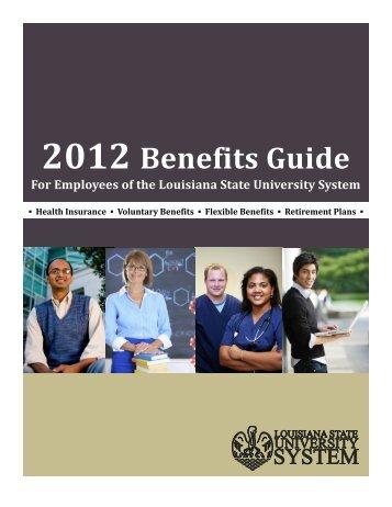 2012 Benefits Guide - Pennington Biomedical Research Center
